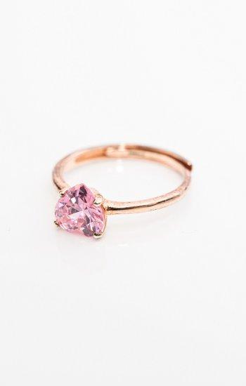 prsten Pink zircon